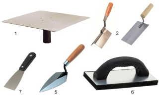 Инструмент для штукатурки стен. Типы и назначение