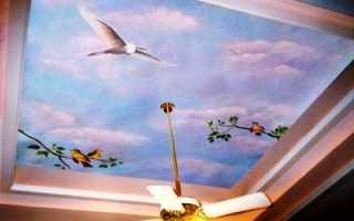 Фотообои на потолок: их выбор и монтаж
