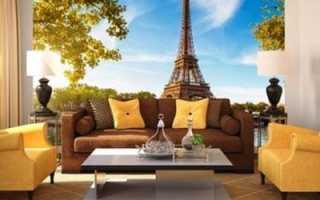 Париж фотообои в интерьере – как украсить свои дом