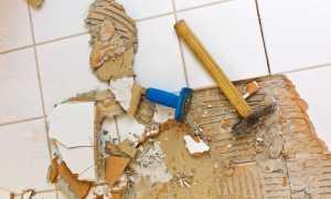 Как удалить плитку со стены без лишних затрат