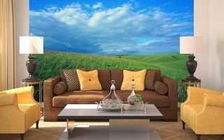 Фотообои синее небо в интерьере комнат нашего дома