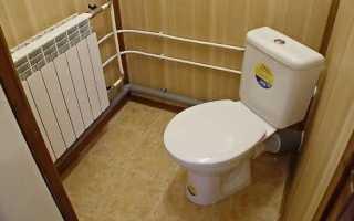 Какой может быть отделка туалета: выбираем материал