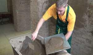 Раствор для штукатурки – пропорции цемента и песка