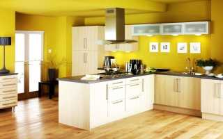 Разнообразная краска для стен на кухне
