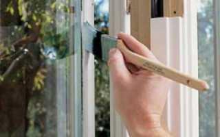 Как красить окна?