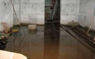 Подземные воды в подвале – как избавиться от затопления