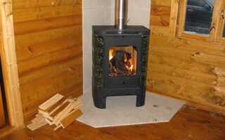 Защита на стене против печи в деревянном доме: специфики установки железной печи