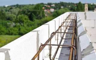 Армирование стен в доме – устройство армопояса