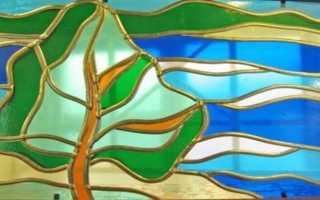 Витражная роспись по стеклу своими руками