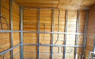 Как отделать стены деревянного дома из гипсокартона