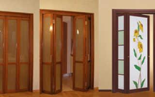 Складные двери: описание и размеры конструкции, достоинства и недостатки, фото и цена