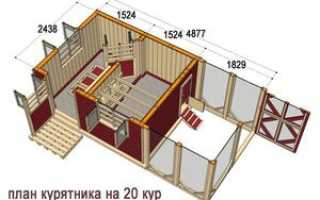 Как построить зимний курятник на 10 кур своими руками от фундамента до крыши с вольером
