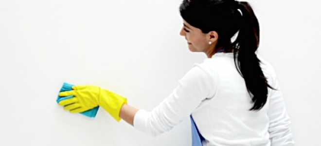 Как удалить жирное пятно с бумажных обоев без последствий для них