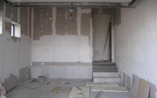 Как выполняется отделка стен в гараже