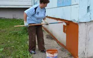 Чем покрасить фундамент дома: выбираем лучшую краску