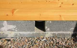 Вентиляция подпола частного деревянного дома