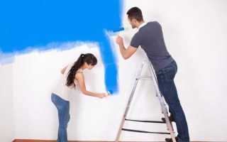 Покраска стен в квартире: технология выполнения работ