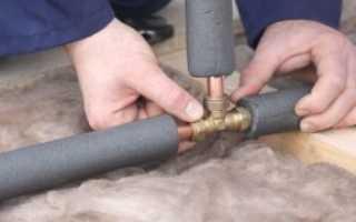 Утепление водопроводных труб: инструменты, материалы и способы
