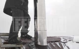 Установка дымохода: как правильно установить дымоход – нюансы монтажа своими руками