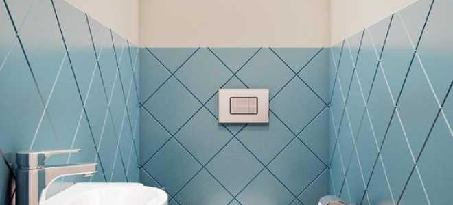 Отделка туалета плиткой: особенности монтажа