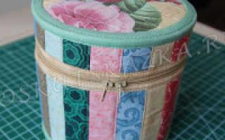 Мастер-класс по пошиву коробки из ткани