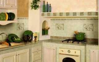 Как делается отделка кухни плиткой – инструкция