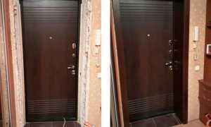 Отделка откосов входной двери изнутри: подбираем материалы