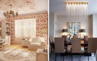 Рассмотрим некоторые варианты отделки комнаты