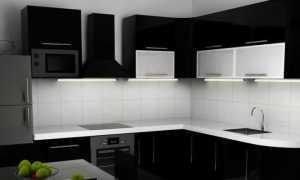 Подбираем обои для черно белой кухни