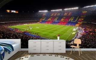 Спортивные фотообои и тема футбольная в интерьере