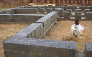 Фундамент под стены из керамзитобетона для производственного помещения.