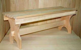 Деревянные скамейки для бани: чертежи, фото