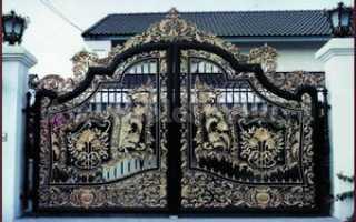 Кованые ворота: преимущества, сфера применения, виды, устройство, фото, установка