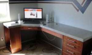 Бетонная кухонная столешница своими руками – как сделать кухонную столешницу из бетона