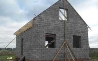 Фундамент для 2-х этажного дома из керамзитоблоков