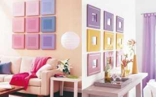 Декоративные украшения на стену: как оформить свободную стену своими руками