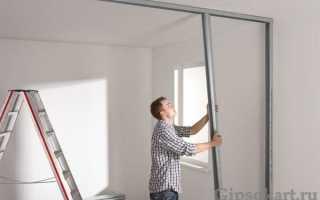 Стена с дверью из гипсокартона: технология строительства