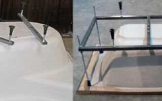 Установка акриловой ванны своими руками: на стойку, ножки, кирпичи, фото, видео