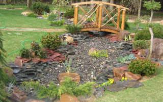 Сухой ручей в ландшафтном дизайне: как сделать декоративную перемычку через сухой ручей в саду пошагово – 27 фото