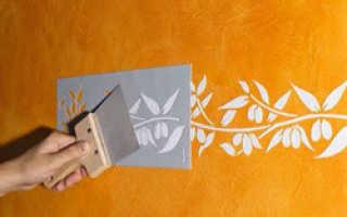 Трафареты для декоративной штукатурки: как сделать