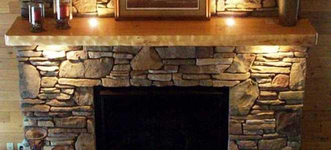 Облицовка камина искусственным камнем: подробная инструкция