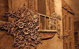 Панно из штукатурки декоративной. Техника создания
