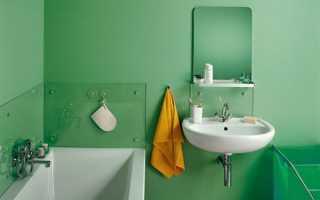 В ванной комнате покраска стен
