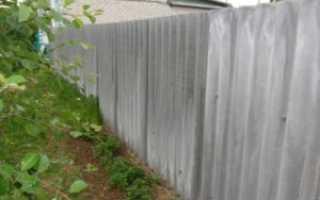Как сделать забор из шифера своими руками: варианты монтажа и особенности