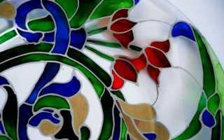Как пользоваться витражными красками: технология нанесения