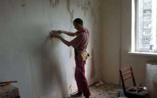 Как снять со стен шпаклевку без проблем