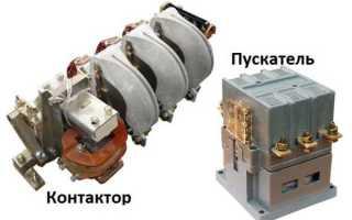 Схема подключения магнитных пускателей 220В, 380В