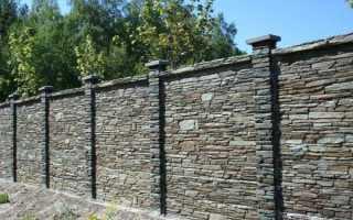 Каменный забор своими руками – пошаговая инструкция!